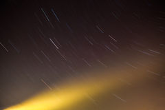 Starry sky and a ray of light Royalty Free Stock Image