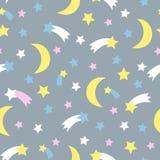 Starry sky seamless pattern. Child Royalty Free Stock Photography