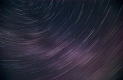 Starry sky shot at a long exposure. stock image