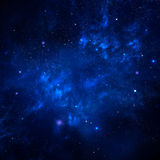 Starry sky, space background Stock Photo