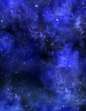 Starry sky, space background Stock Images