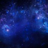 Starry sky, space background Royalty Free Stock Photos