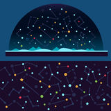 Starry sky, space stock illustration