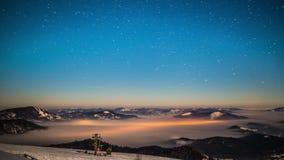 8K Milky way time lapse in Carpathian Mountains stock video
