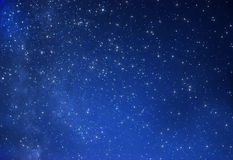 Starry sky. True starry sky in the rural Stock Image