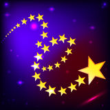 Starry sky vector EPS 10 Royalty Free Stock Photo
