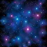 Starry Sky. Vector illustration representing starry stars in the night sky Stock Photo