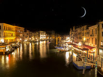 Starry sky in Venice Royalty Free Stock Images