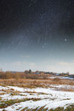 Starry sky in winter Royalty Free Stock Photos
