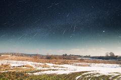 Starry sky in winter. Stock Image