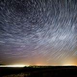 Starry skybakgrund för natt royaltyfri bild