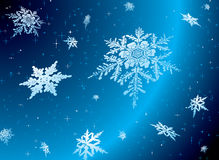 Starry snowflake Royalty Free Stock Images