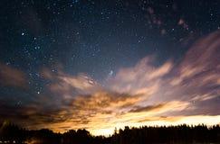 starry solnedgång Royaltyfria Bilder