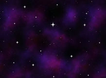 starry space or night sky  Royalty Free Stock Photo