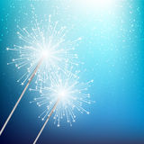 Starry sparklers Royalty Free Stock Photos