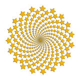 Starry spiral gold over white background Stock Photography