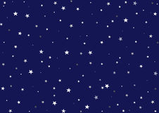 Starry starry night. Illustration of a night background - Dark blue sky with many stars of different dimensions Royalty Free Stock Photo
