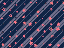 Starry and striped background Royalty Free Stock Photography