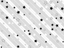 Starry and striped background Stock Photos