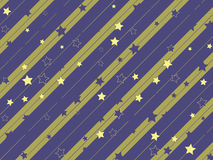 Starry and striped background Stock Photography