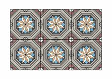 Starry tile. Vector illustration of a carpet, EPS 10 file Royalty Free Stock Photo