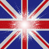 Starry Union Jack flag background Stock Image