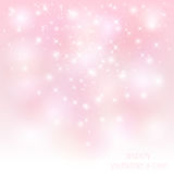 Starry Valentines background Stock Photography