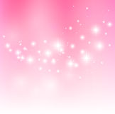 Starry wave. Valentine pink background with starry lights Royalty Free Stock Photos