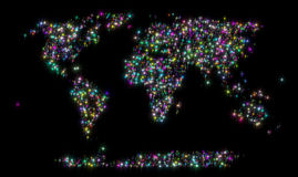 Starry World Map Royalty Free Stock Photo