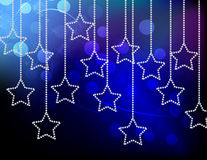 Stars. On gradient background with light bokeh Royalty Free Stock Photos