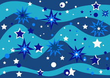 Stars. 2d abstract background, vector illustration Stock Photos