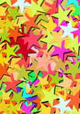 Stars. Colorful paper stars background illustration Royalty Free Stock Photos