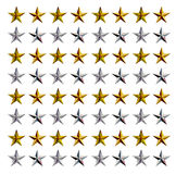 Stars. Pattern of stars in rows of gold and silver Stock Images