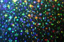 Stars. Close up of foil with star pattern Royalty Free Stock Photo