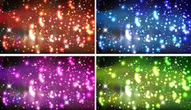 Stars. Beautiful card  in pink Royalty Free Stock Images