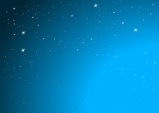 Stars. Star field with Blue sky background Royalty Free Stock Photography