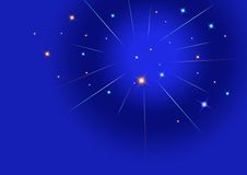 Stars. Glowing Stars in Dark Blue sky Royalty Free Stock Photo