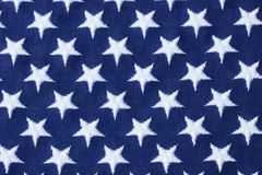 Stars. American Flag Stars on Dark Blue Royalty Free Stock Image