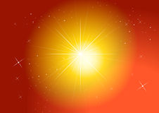 Stars. Star field in golden sunset sky Royalty Free Stock Images