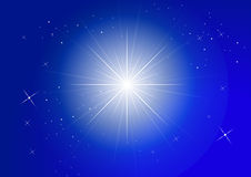 Stars. Star field in Dark Blue sky Stock Image