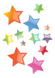 Stars. 3d stars in different colors and styles