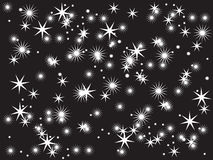 Stars. Vector illustration of sky with many stars stock illustration