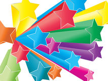 Stars. Colorful background easy to resize or change color Stock Photography