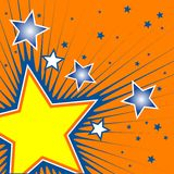 Stars. Disco background. Detailed vector illustration Stock Photo