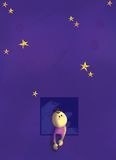 Stars. Under the sky full of twinkle stars royalty free illustration