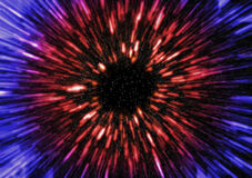Stars. A warp drive starfield in 3d Royalty Free Stock Image