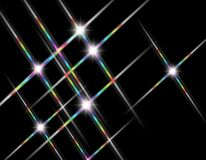 Stars. Wave of twinkling stars background Stock Photos