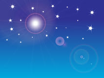 Stars. Star field with Blue sky background Royalty Free Stock Image