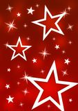 Stars. Decorative stars on a red background Stock Images