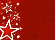 Stars. Decorative stars on a red background Royalty Free Stock Photos